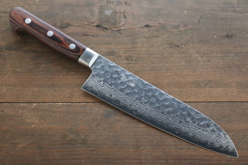 Seisuke VG10 17 Layer Damascus Santoku Japanese Chef Knife 180mm - Japanny - Best Japanese Knife