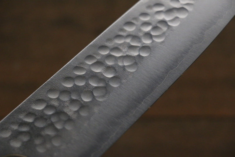 Yoshimi Kato Silver Steel No.3 Hammered Santoku Japanese Chef Knife 165mm - Japanny - Best Japanese Knife