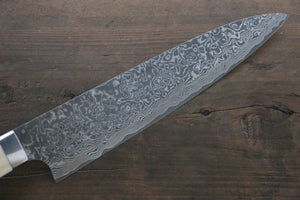 Saji R2/SG2 Black Damascus Gyuto Japanese Chef Knife 210mm with Bone handle