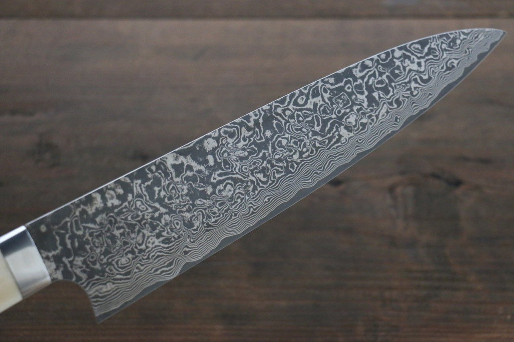 Saji R2/SG2 Black Damascus Gyuto Japanese Chef Knife 210mm with Deer Horn handle