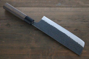 Yu Kurosaki Blue Super Clad Hammered Kurouchi Nakiri Japanese Chef Knife 180mm