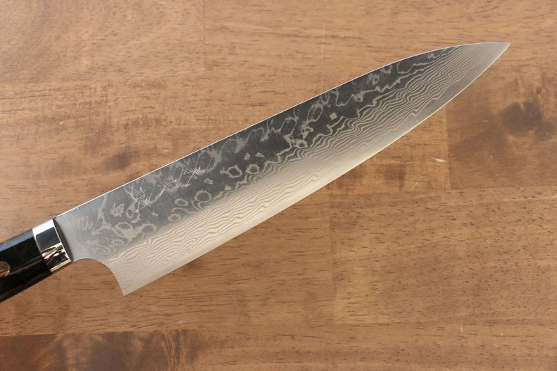 Yoshimi Kato R2/SG2 Damascus Gyuto Japanese Knife 210mm Black Acrylic Handle - Japanny - Best Japanese Knife