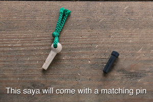 Saya Sheath for Nakiri Knife with Plywood Pin (Dai)