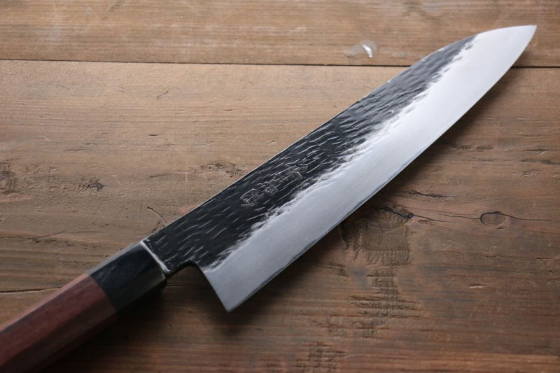 Takayuki Iwai Blue Super Kurouchi Gyuto Japanese Knife 240mm Shitan Handle - Japanny - Best Japanese Knife