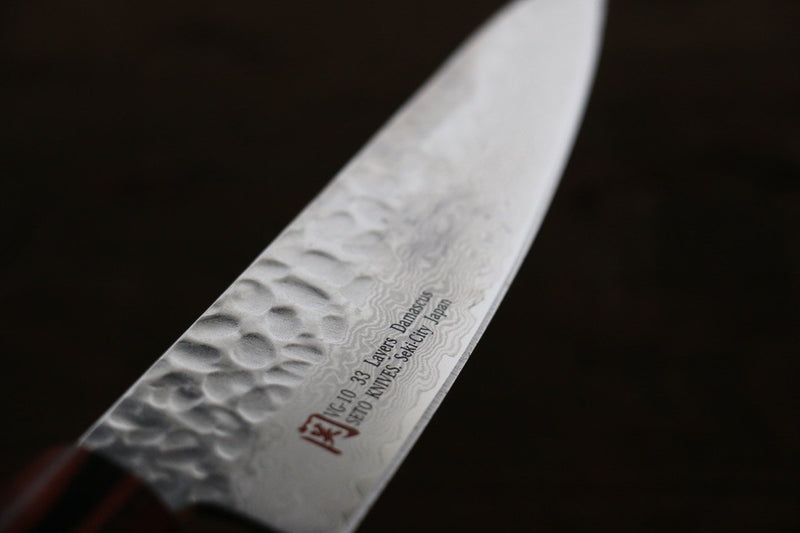 Iseya VG10 Damascus Small Santoku Japanese Knife 135mm - Japanny - Best Japanese Knife