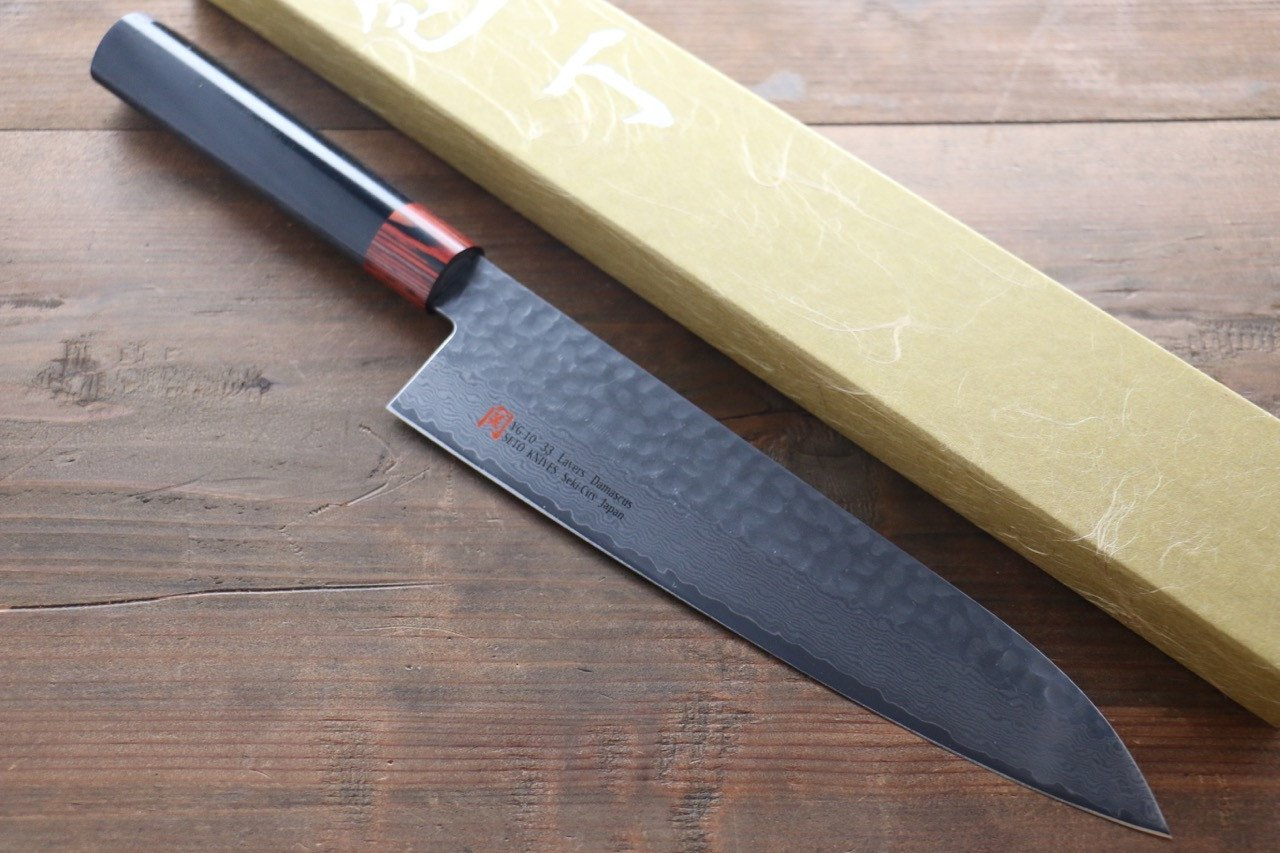 Iseya VG10 Damascus Gyuto Japanese Knife 210mm - Japanny - Best Japanese Knife