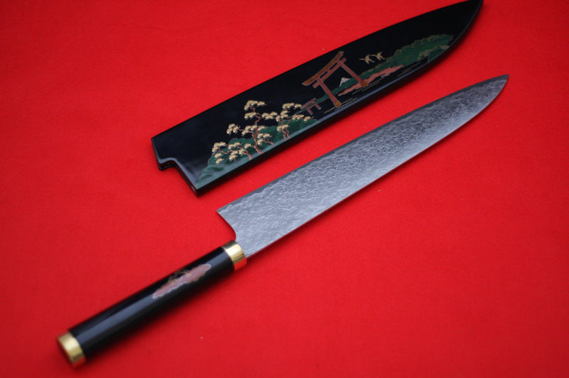 Takeshi Saji R2 Japanese Gyuto Chef Knife 270mm with Maki-e Art Torii - Japanny - Best Japanese Knife