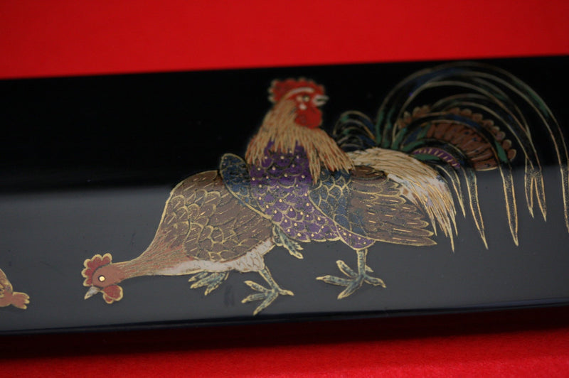 Takeshi Saji VG10 Japanese Yanagiba Chef Knife with Maki-e Art Rooster 270mm - Japanny - Best Japanese Knife