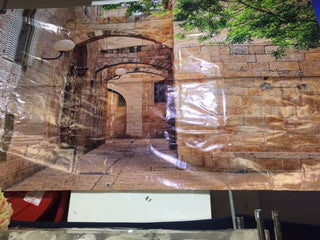 NEW Banner poster on canvas 300x150cm Sukkot at The Kotel - decorations - Sukkahmart South Africa