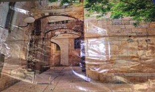 NEW Banner poster on canvas 300x150cm The Kotel at Night - decorations - Sukkahmart South Africa