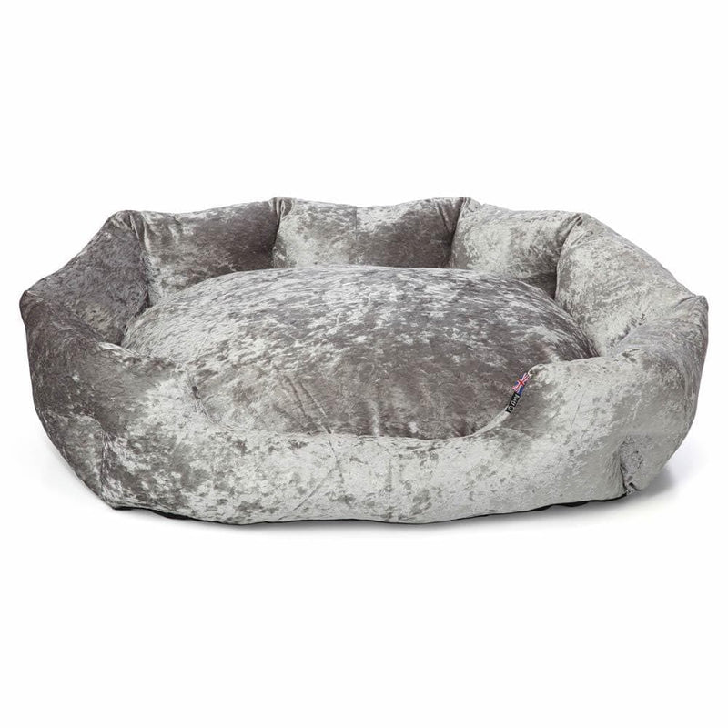 Luxury Crushed Velvet Dog Bed - Personalised Option - Bunty Bellagio
