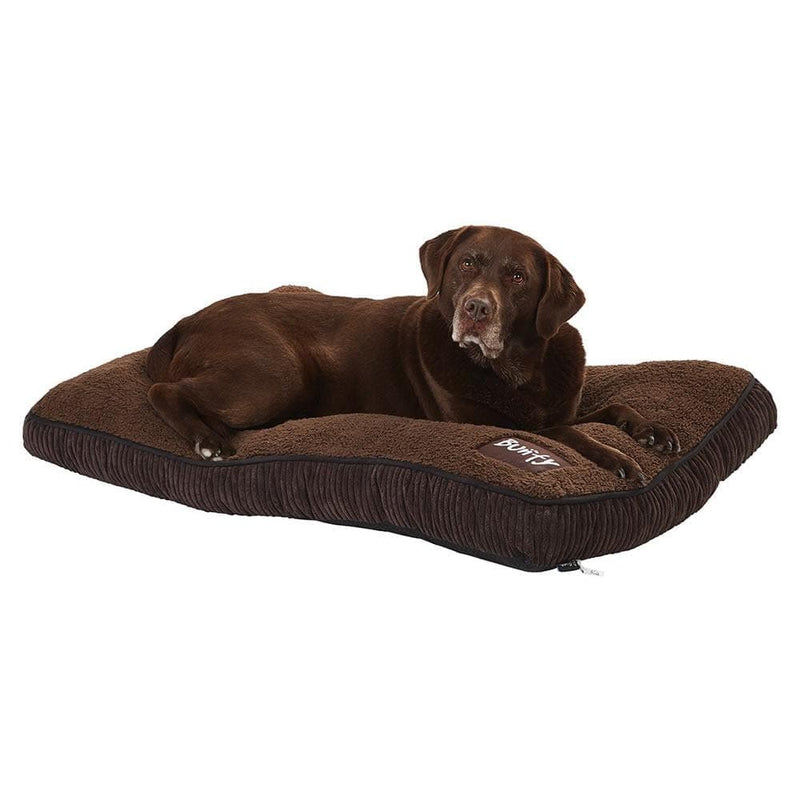 Brown Dog Bed Mattress - Small To XL Sizes - Fleece - Bunty Snooze