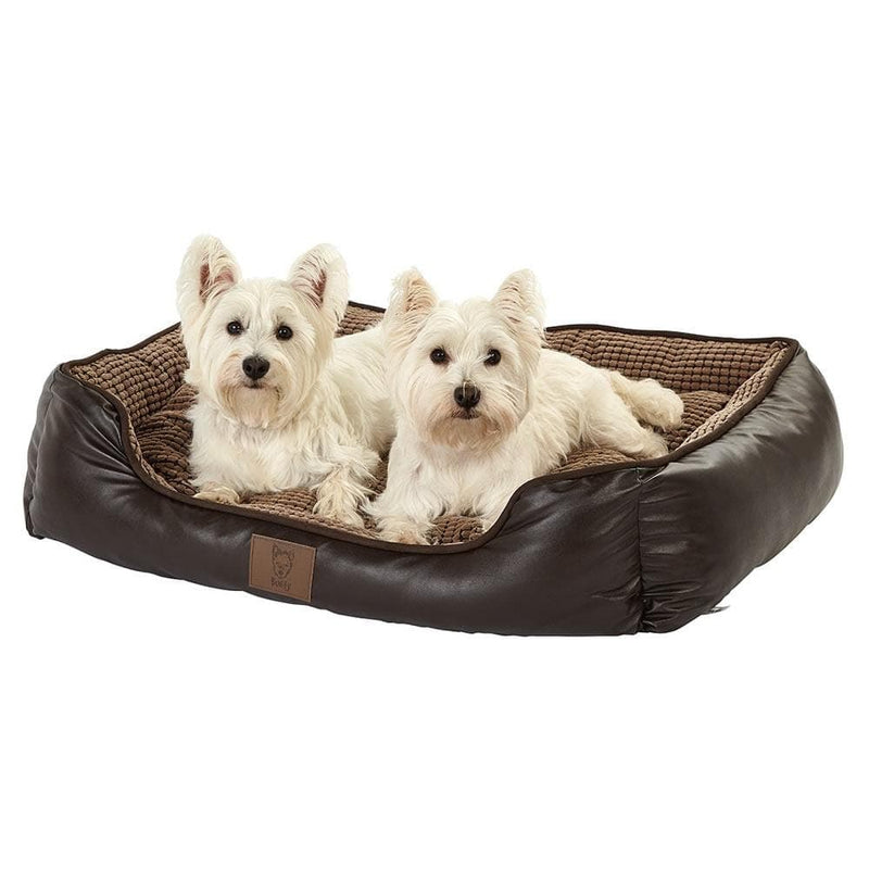 Bunty Tuscan Faux Leather Dog Bed