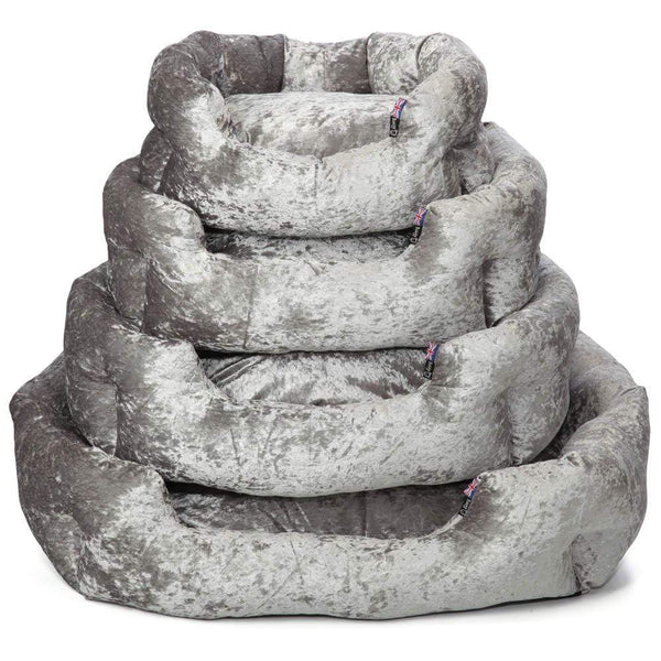Luxury Crushed Velvet Dog Bed - Bunty Bellagio