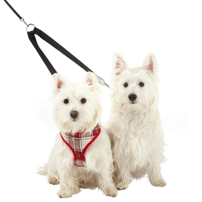 Double Dog Pet Lead Leash Splitter Coupler with Clip for Collar Harness - Personalised Option