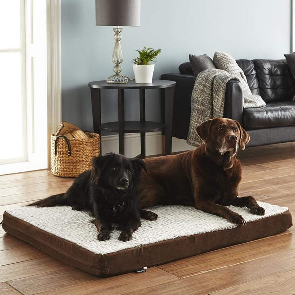 Bunty Soft Washable Dog Bed -  Mattress Basket Bed Cushion Fleece Pillow