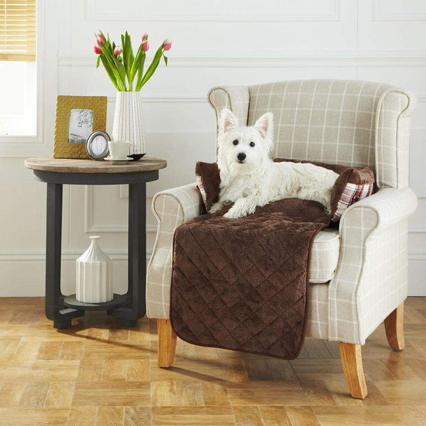 Bunty Stirling Dog Bed Soft Washable Tartan Fabric Cushion Sofa Chair Pet Basket
