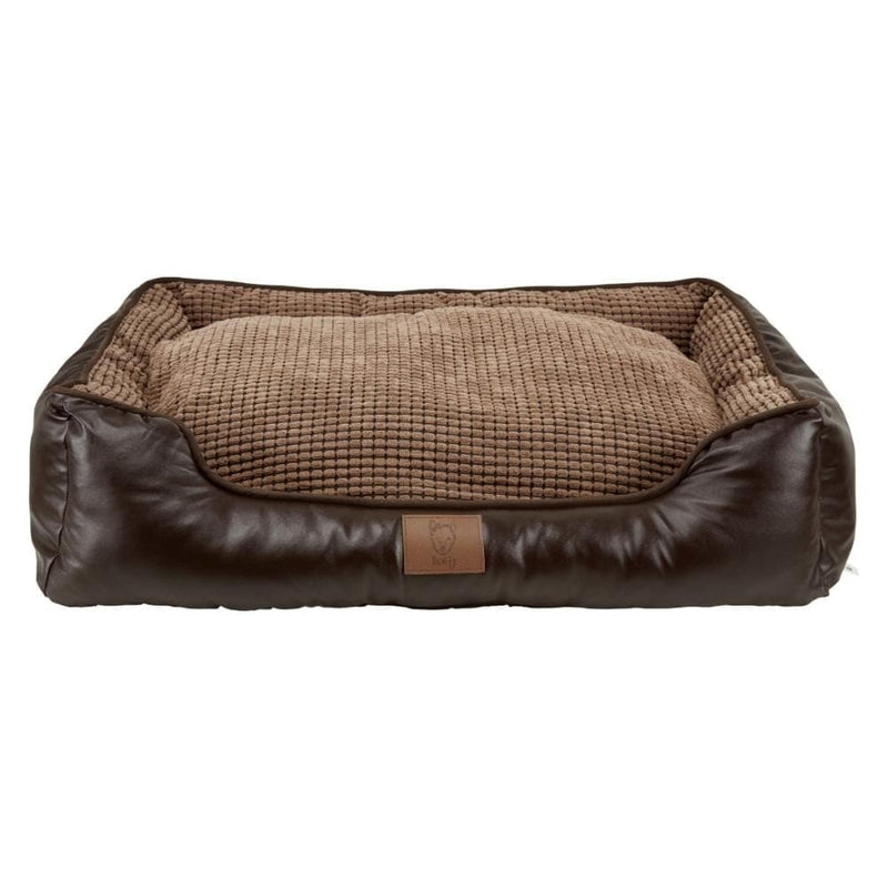 Bunty Tuscan Faux Leather Dog Bed - Personalised Option