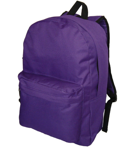 "18"" Classic Backpack - Purple (Case of 36)-Activity, Coloring & Kids' Books-shayonawholesale"