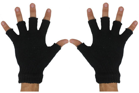 Black Fingerless Winter Gloves (Case of 144)-Winter Hats-shayonawholesale