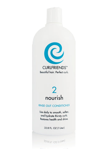 Curl Friends Nourish Rinse-Out Conditioner Liter - CASE OF 1-Personal Care-shayonawholesale