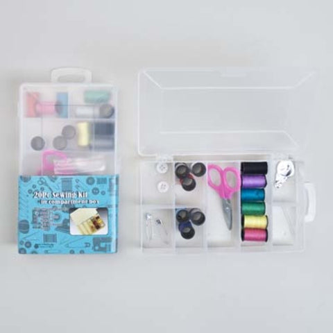 20 Piece Sewing Kit In Compartment Box (Case of 96)-Health & Wellness-shayonawholesale