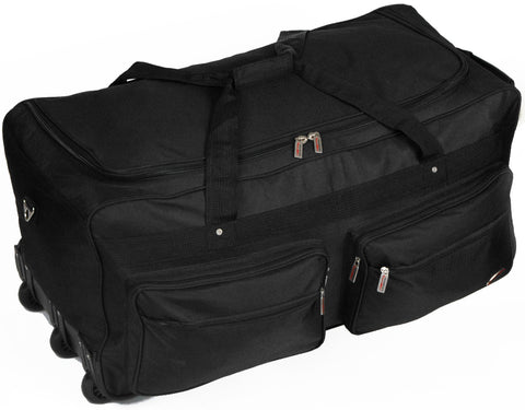 "32"" 1200D Polyester Multi-Pocket Wheel Duffel (Case of 4)-Luggage & Travel Accessories-shayonawholesale"