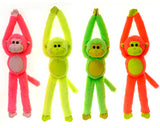 "13"" 4 Asst. Neon Color Long Arm Monkeys (Case of 36)-Stuffed Animals & Plush-shayonawholesale"