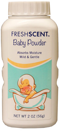 Freshscent Baby Powder Talc 2 oz (Case of 96)-Soaps & Sanitizers-shayonawholesale