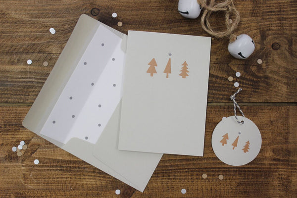 Beautiful Letterpress Christmas Cards - Pack of 3