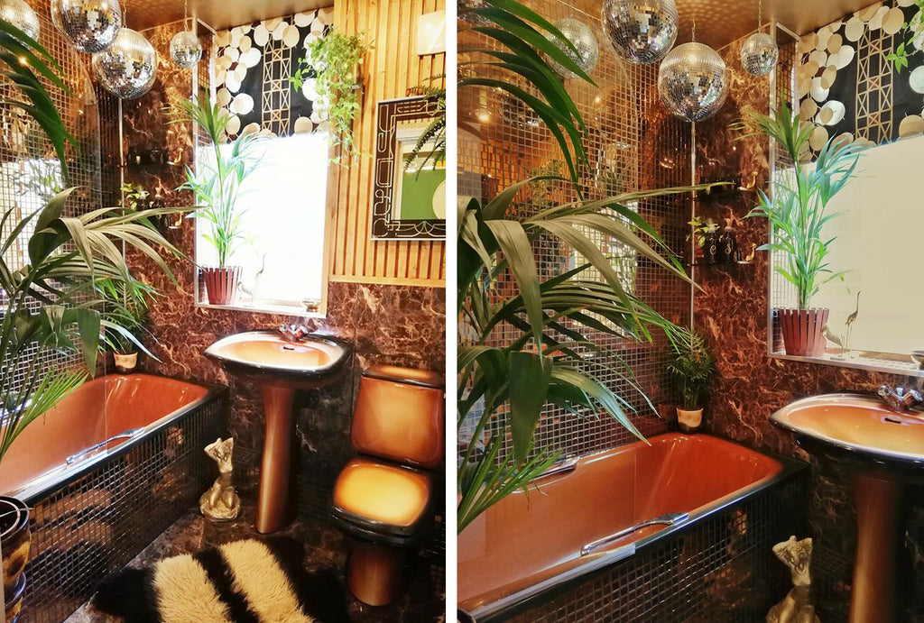 House Tour: Estelle's 70's-tastic Home - the lockdown bathroom