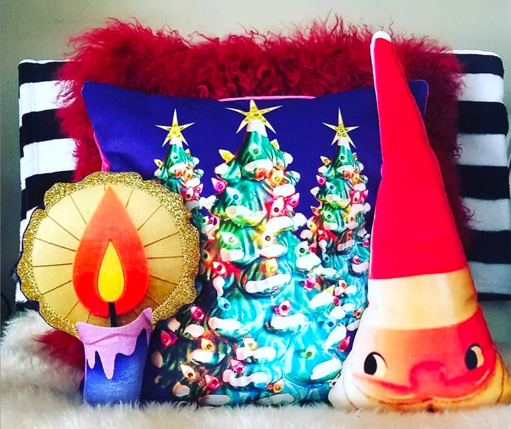 Estelle Bilson Creative Christmas cushions | The Inkabilly Blog
