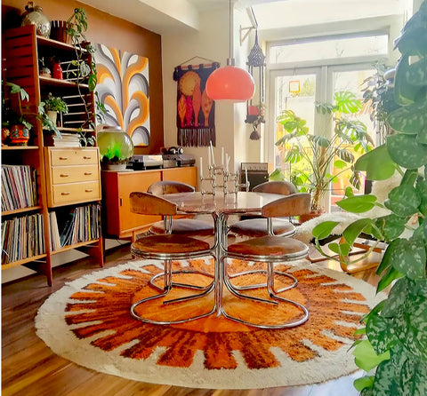 House Tour: Estelle's 70's-tastic Home - dining room