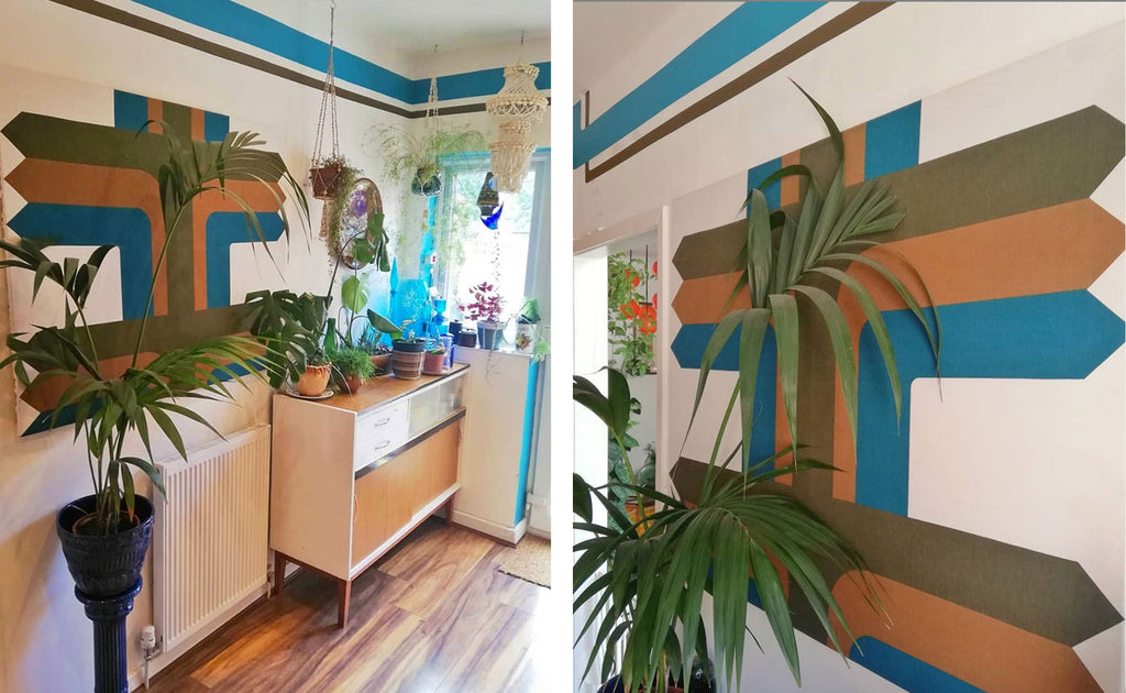 House Tour: Estelle's 70's-tastic Home - super graphics in klitchen