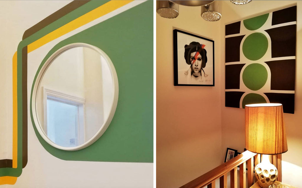 House Tour: Estelle's 70's-tastic Home - super graphics and artwork