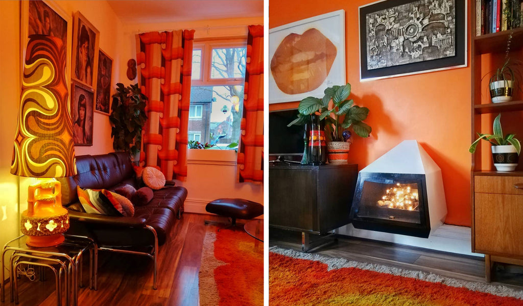 House Tour: Estelle's 70's-tastic Home - lounge details