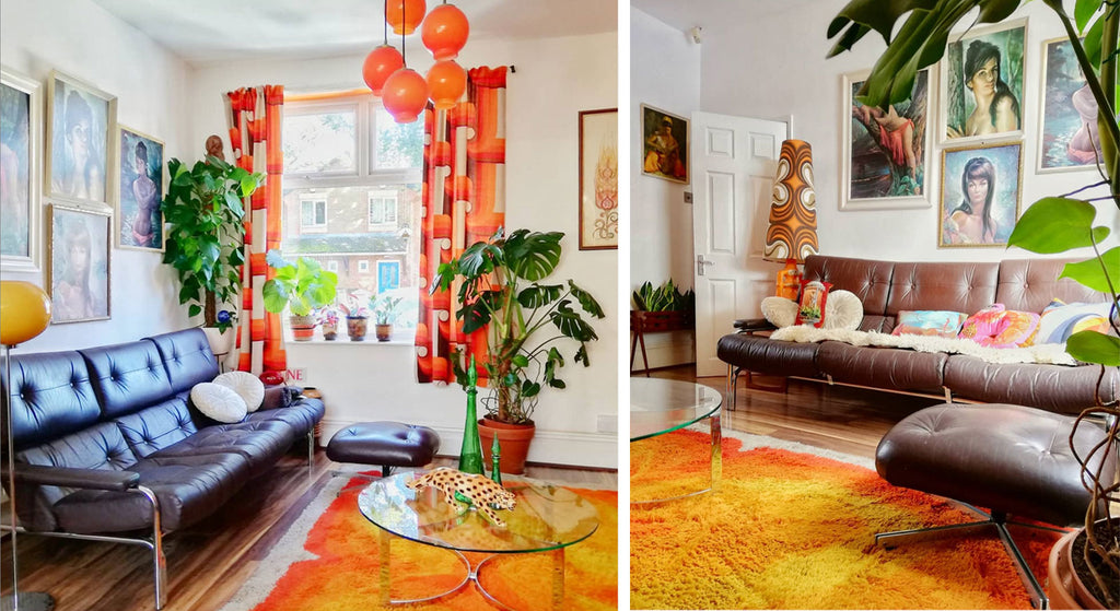 House Tour: Estelle's 70's-tastic lounge