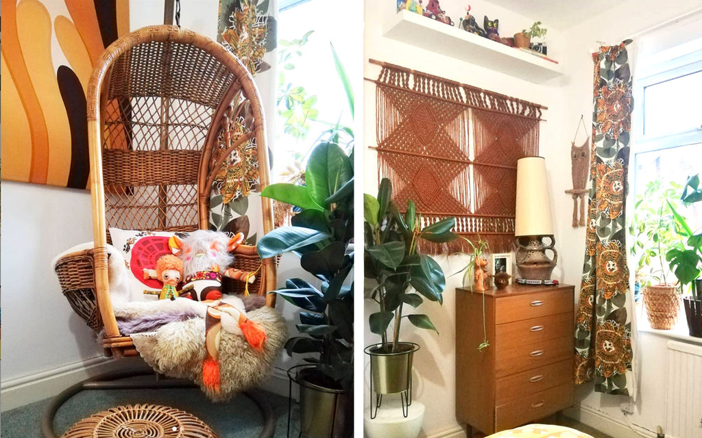 House Tour: Estelle's 70's-tastic Home - 70s boho bedroom