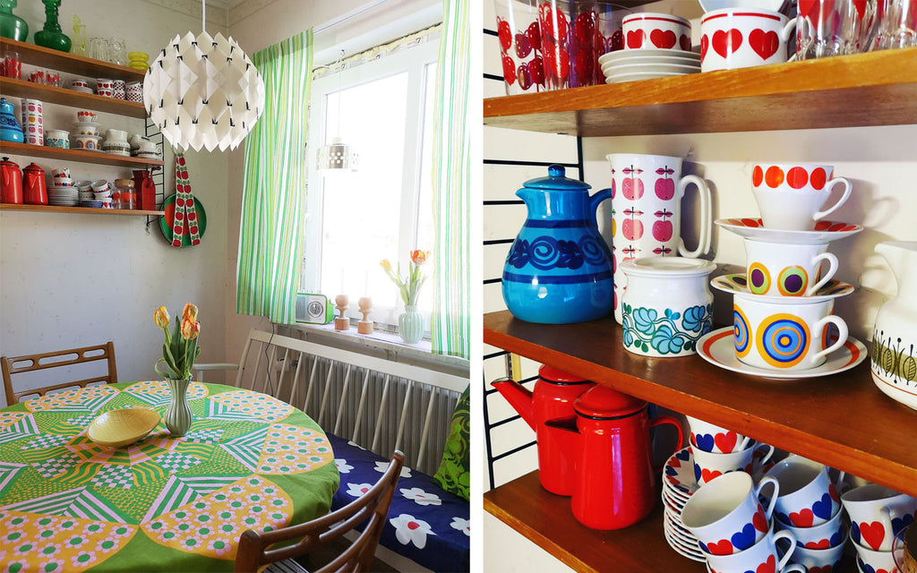House Tour - Anna-Karin's Dining Room / Shelfie with vintage china | The Inkabilly Blog