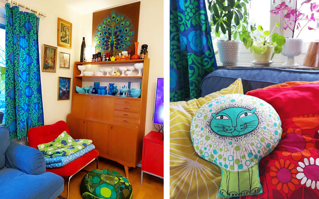 Retro House Tour Anna-Karin's colourful lounge details | The Inkabilly Blog