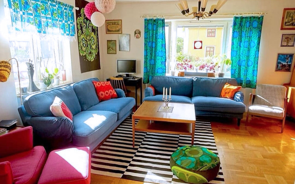 Retro House Tour Anna-Karin's colourful lounge | The Inkabilly Blog