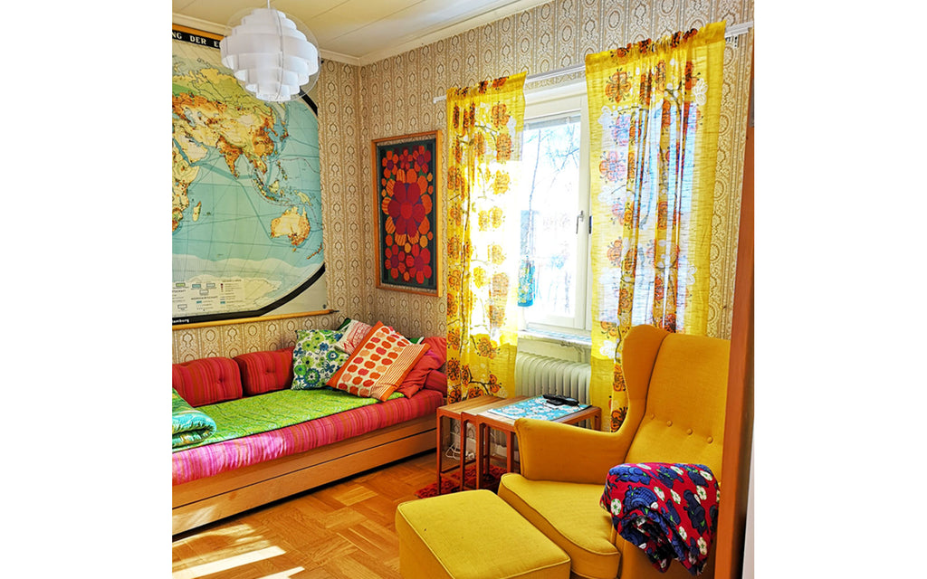 House Tour - Anna-Karin's bold & funky TV Room | The Inkabilly Blog