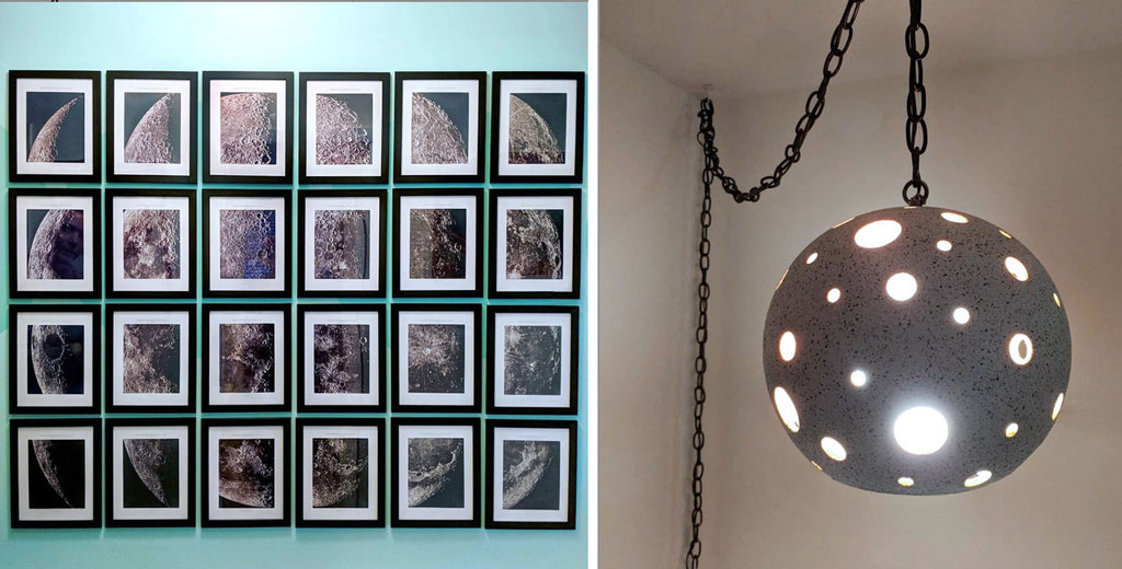 House Tour: Olivia's Atomic Ranch Revival - lunar artwork and lamp