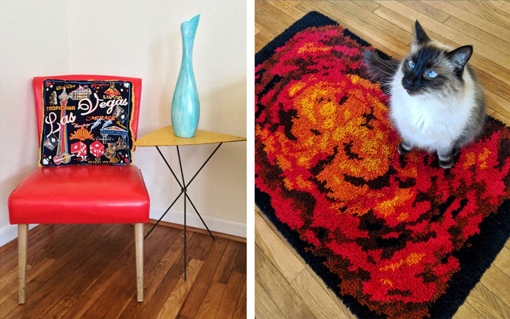 House Tour: Olivia's Atomic Ranch Revival - vintage chair and rug