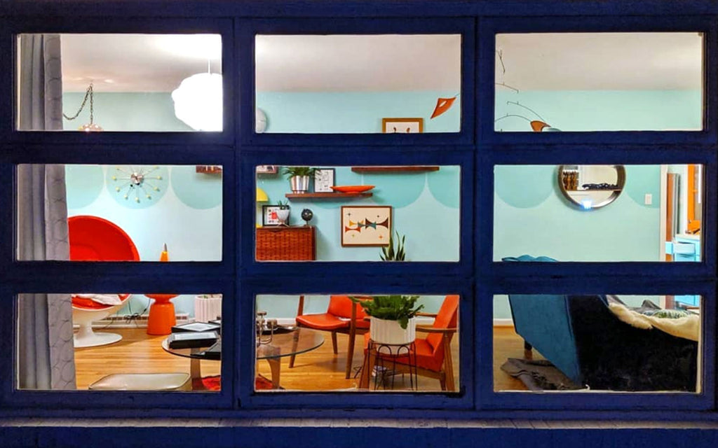House Tour: Olivia's Atomic Ranch Revival - view through window