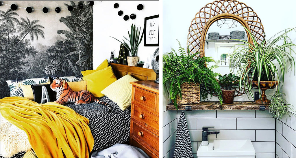 House Tour: Rachel's Eclectic Retro Home - bedroom and bathroom