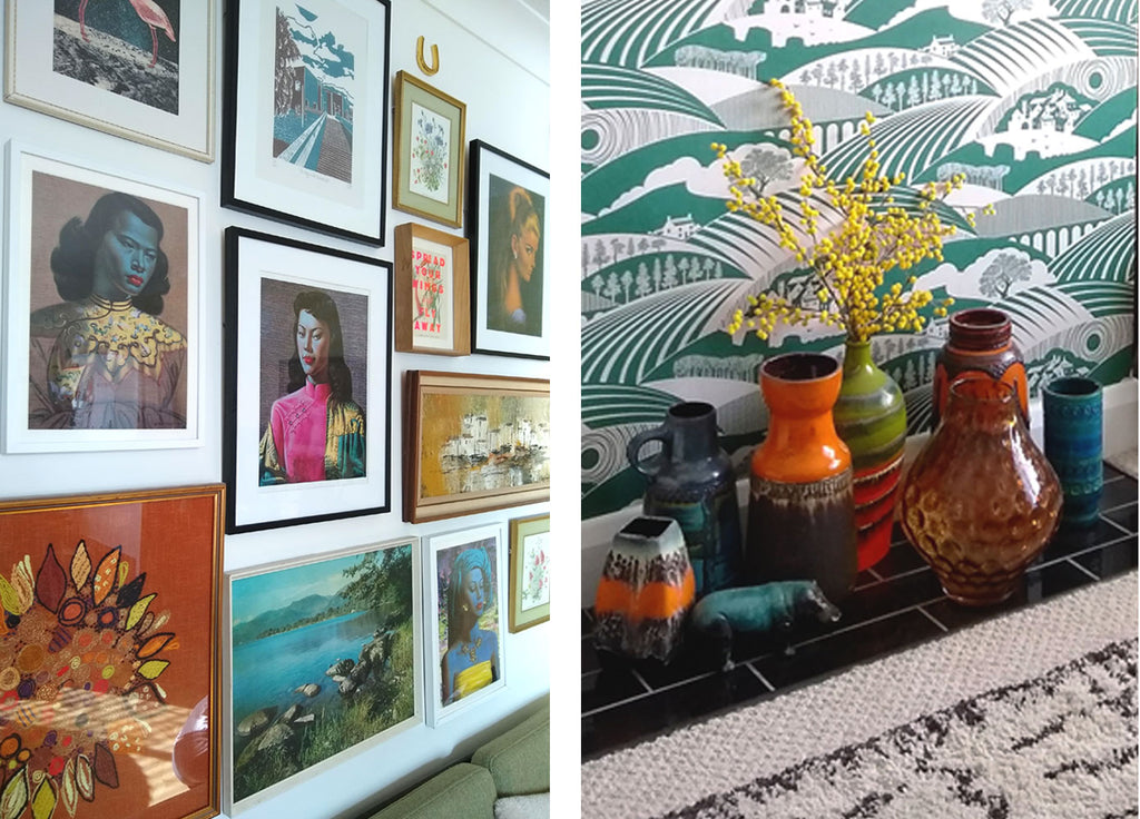 House Tour: Beth's Mid Century Family Home - Gallery Wall and West German Pottery Collection