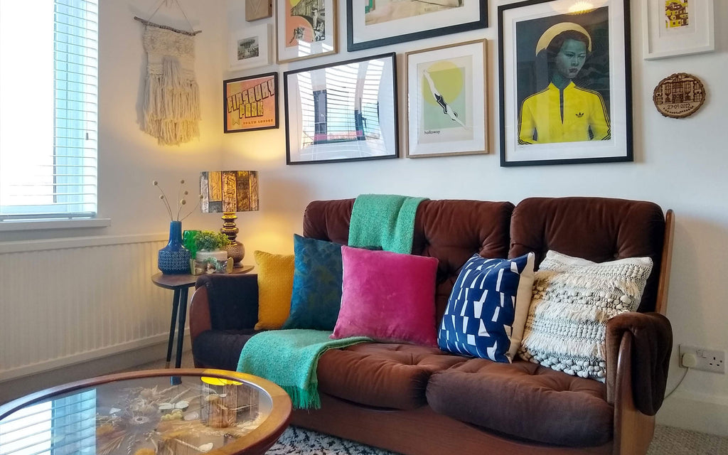 House Tour: Beth's Mid Century Family Home - Saddleback sofa