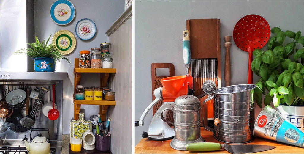 Inkabilly Blog House Tour: Aisling's Eclectic Shack - details of vintage kitchenalia