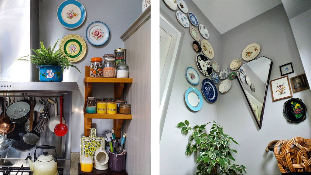 Inkabilly Blog House Tour: Aisling's Eclectic Shack - tropical corner and landing/hallway details